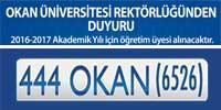 okan üniversitesi 2017-2017 akademik yılı için öğretim üyesi arıyor