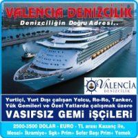 Valencia Denizcilik İskenderun Gemi İş İlanları